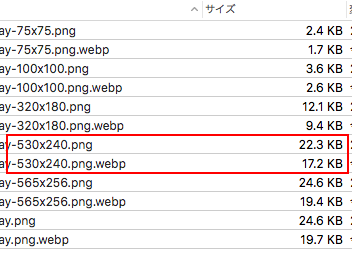 Check created webp