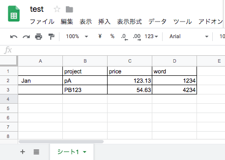 spreadsheets test